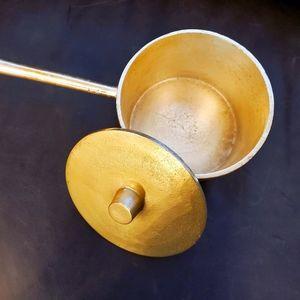 CB2 Gold Accent Saucepan - Home Decor